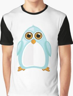 Baby Blue Penguin Graphic T-Shirt