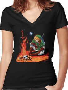 Dark link Women's Fitted V-Neck T-Shirt