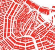 Amsterdam, Netherlands Map Art Sticker