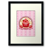 Sweet Strawberry Cupcake Framed Print