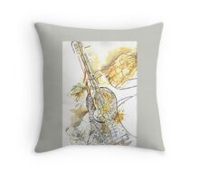 Musical Curves and Guitar  Throw Pillow
