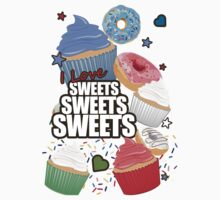 I love Sweets Sweets Sweets One Piece - Short Sleeve
