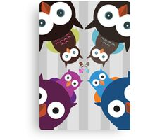Owl Crowd Canvas Print