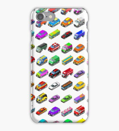 Cars Game Icons Isometric Vehicles iPhone Case/Skin