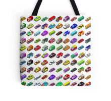 Cars Game Icons Isometric Vehicles Tote Bag