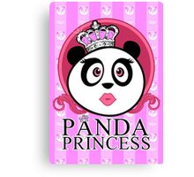 Panda Princess Canvas Print