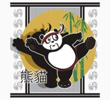 Martial Arts Panda - Green Kids Tee