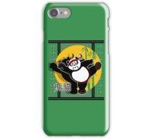 Martial Arts Panda - Green iPhone Case/Skin