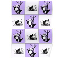 Pandas Checker - Purple Poster