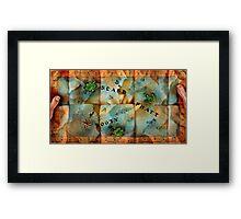 Monkey Island Map Framed Print
