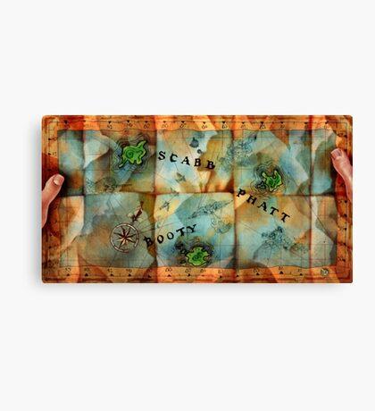 Monkey Island Map Canvas Print