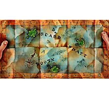 Monkey Island Map Photographic Print