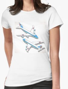 Boeing Aircraft Isometric Airplane Womens Fitted T-Shirt
