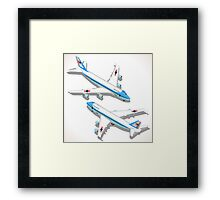 Boeing Aircraft Isometric Airplane Framed Print