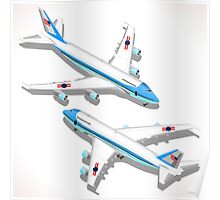 Boeing Aircraft Isometric Airplane Poster