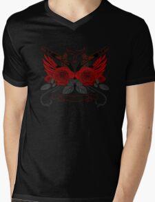 Guns and Roses RED Mens V-Neck T-Shirt