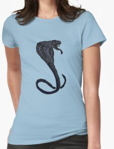 Cool Artistic Striking King Cobra Snake Womens Fitted T-Shirt