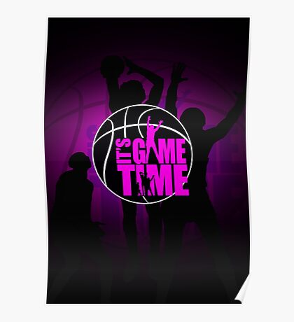 It's Game Time - Pink Poster