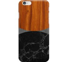 Marble and wood abstract iPhone Case/Skin