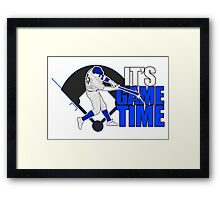 It's Game Time - Baseball (Blue) Framed Print