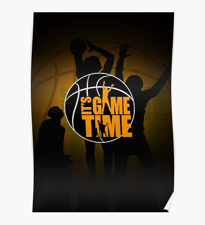 It's Game Time - Yellow Poster