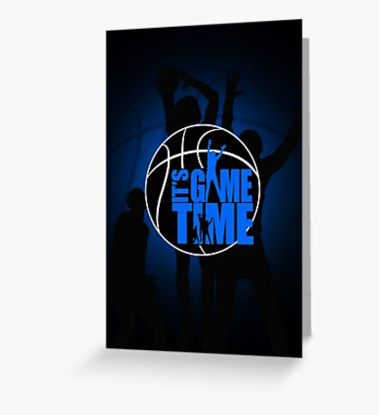 It's Game Time - Blue Greeting Card