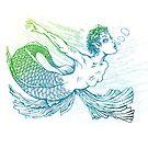 underwater mermaid by pixelwolf