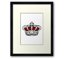 Crown - Red Framed Print
