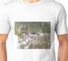 Beautiful little ducklings with the parents Unisex T-Shirt