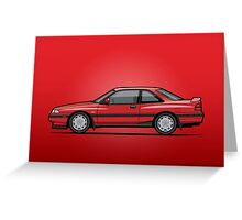 Mazda MX6 GT Red Greeting Card