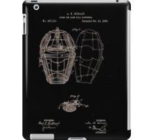 Baseball Catcher's Mask 1883 iPad Case/Skin