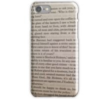 Sherloch Holmes- Pages from iPhone Case/Skin
