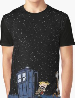 Calvin & Hobbes : Time Travel Graphic T-Shirt