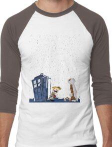 Calvin & Hobbes : Time Travel Men's Baseball ¾ T-Shirt