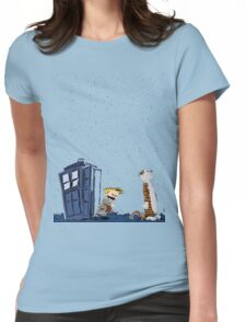 Calvin & Hobbes : Time Travel Womens Fitted T-Shirt