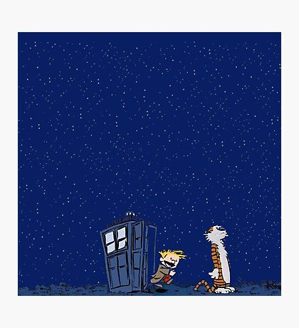 Calvin & Hobbes : Time Travel Photographic Print