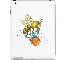 Bee Carrying Honey Pot Drawing iPad Case/Skin