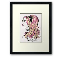 She wants to be different Framed Print