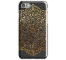 Wood mandala - gold iPhone Case/Skin