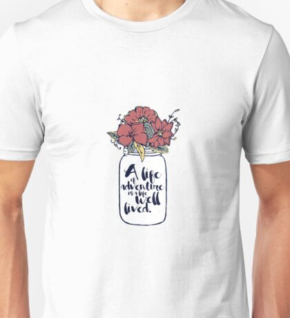 Mason Jar flowers with Quote Unisex T-Shirt
