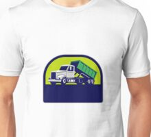 Roll-Off Truck Side Up Half Circle Retro Unisex T-Shirt
