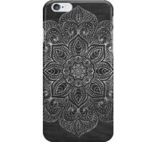 Wood mandala - silver iPhone Case/Skin
