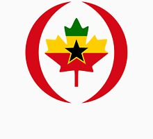 Ghanaian Canadian Multinational Patriot Flag Series Unisex T-Shirt