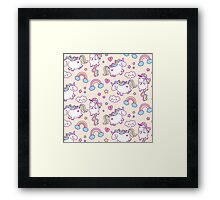 More unicorns!!! Framed Print