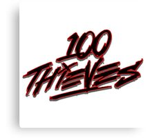 100 Thieves Logo Canvas Print