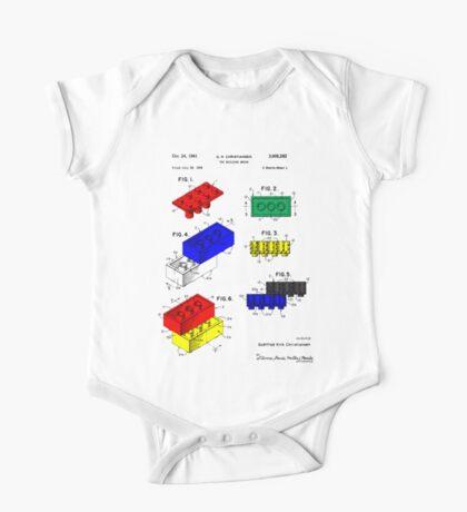Lego Building Brick Patent - Colour One Piece - Short Sleeve