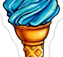 Blue Ice Cream Pattern Sticker