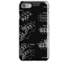 Lego Building Brick Patent - Black iPhone Case/Skin