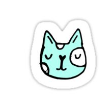 Sketchy cats faces Sticker