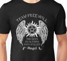 Two boys,an old man and a fallen angel Unisex T-Shirt